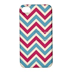 Zig Zags Pattern Apple Iphone 4/4s Hardshell Case With Stand by Valentinaart