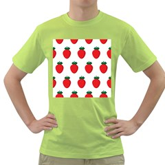 Fruit Strawberries Red Green Green T Shirt