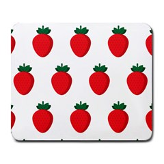 Fruit Strawberries Red Green Large Mousepads by Mariart