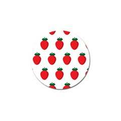 Fruit Strawberries Red Green Golf Ball Marker (4 Pack) by Mariart