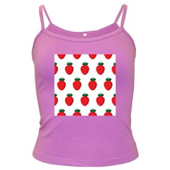 Fruit Strawberries Red Green Dark Spaghetti Tank by Mariart