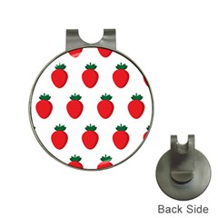 Fruit Strawberries Red Green Hat Clips With Golf Markers by Mariart