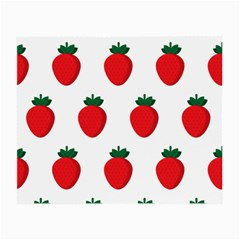 Fruit Strawberries Red Green Small Glasses Cloth by Mariart