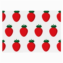 Fruit Strawberries Red Green Large Glasses Cloth (2 Side) by Mariart