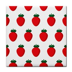 Fruit Strawberries Red Green Face Towel by Mariart