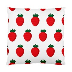 Fruit Strawberries Red Green Standard Cushion Case (one Side) by Mariart