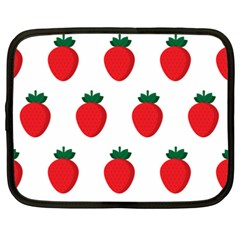 Fruit Strawberries Red Green Netbook Case (xxl)  by Mariart