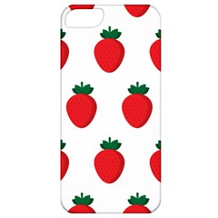 Fruit Strawberries Red Green Apple Iphone 5 Classic Hardshell Case by Mariart