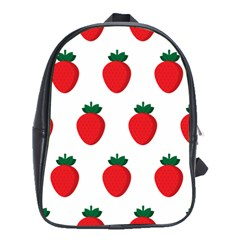 Fruit Strawberries Red Green School Bags (xl)  by Mariart