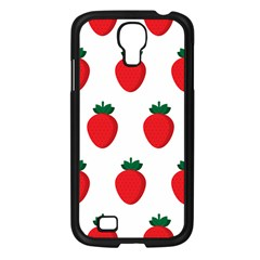 Fruit Strawberries Red Green Samsung Galaxy S4 I9500/ I9505 Case (black) by Mariart