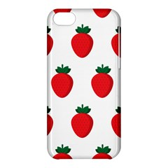 Fruit Strawberries Red Green Apple Iphone 5c Hardshell Case by Mariart
