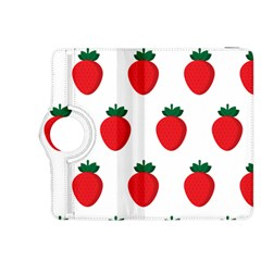 Fruit Strawberries Red Green Kindle Fire Hdx 8 9  Flip 360 Case by Mariart