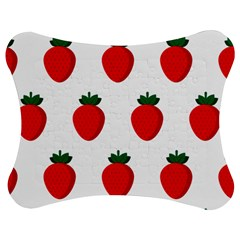 Fruit Strawberries Red Green Jigsaw Puzzle Photo Stand (bow) by Mariart