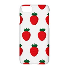 Fruit Strawberries Red Green Apple Iphone 7 Hardshell Case by Mariart