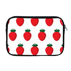 Fruit Strawberries Red Green Apple Macbook Pro 17  Zipper Case by Mariart