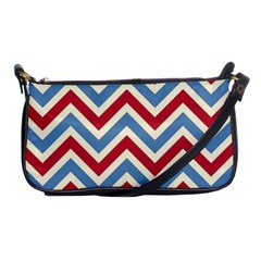 Zig Zags Pattern Shoulder Clutch Bags by Valentinaart