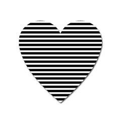 Horizontal Stripes Black Heart Magnet by Mariart