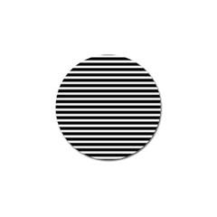 Horizontal Stripes Black Golf Ball Marker by Mariart