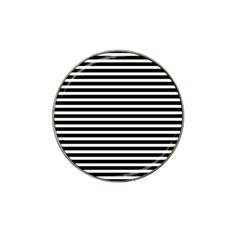 Horizontal Stripes Black Hat Clip Ball Marker (10 Pack) by Mariart