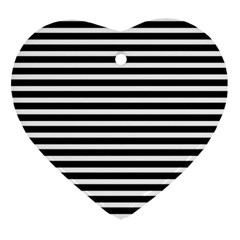 Horizontal Stripes Black Heart Ornament (two Sides) by Mariart