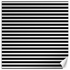 Horizontal Stripes Black Canvas 12  X 12   by Mariart