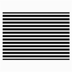 Horizontal Stripes Black Large Glasses Cloth (2 Side) by Mariart