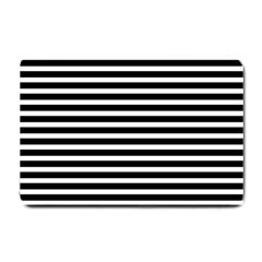 Horizontal Stripes Black Small Doormat  by Mariart