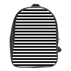 Horizontal Stripes Black School Bags(large)  by Mariart