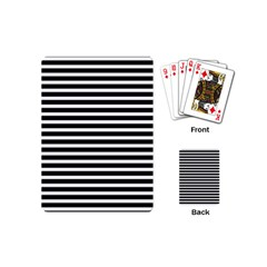 Horizontal Stripes Black Playing Cards (mini)  by Mariart