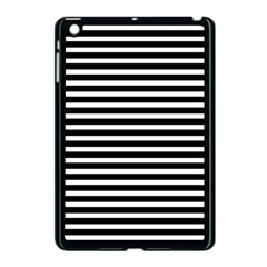 Horizontal Stripes Black Apple Ipad Mini Case (black) by Mariart
