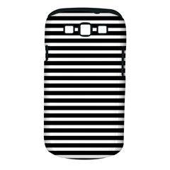 Horizontal Stripes Black Samsung Galaxy S Iii Classic Hardshell Case (pc+silicone) by Mariart