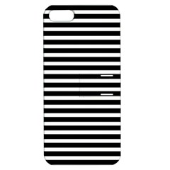 Horizontal Stripes Black Apple Iphone 5 Hardshell Case With Stand by Mariart