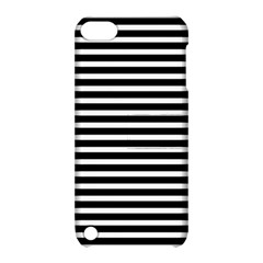Horizontal Stripes Black Apple Ipod Touch 5 Hardshell Case With Stand by Mariart