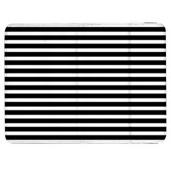 Horizontal Stripes Black Samsung Galaxy Tab 7  P1000 Flip Case by Mariart