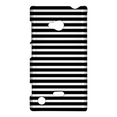 Horizontal Stripes Black Nokia Lumia 720 by Mariart
