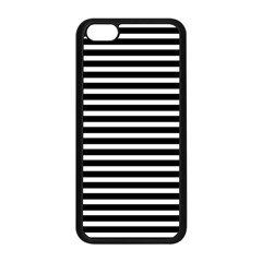 Horizontal Stripes Black Apple Iphone 5c Seamless Case (black) by Mariart