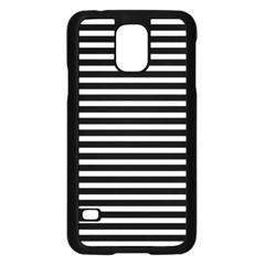 Horizontal Stripes Black Samsung Galaxy S5 Case (black) by Mariart