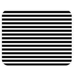 Horizontal Stripes Black Double Sided Flano Blanket (medium)  by Mariart