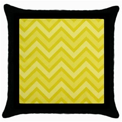 Zig Zags Pattern Throw Pillow Case (black) by Valentinaart