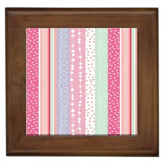 Heart Love Valentine Polka Dot Pink Blue Grey Purple Red Framed Tiles by Mariart