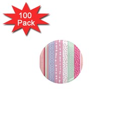 Heart Love Valentine Polka Dot Pink Blue Grey Purple Red 1  Mini Magnets (100 Pack)  by Mariart
