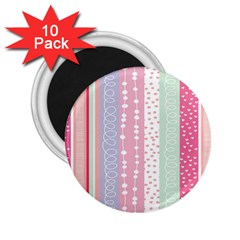 Heart Love Valentine Polka Dot Pink Blue Grey Purple Red 2 25  Magnets (10 Pack)  by Mariart