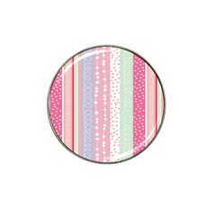 Heart Love Valentine Polka Dot Pink Blue Grey Purple Red Hat Clip Ball Marker (4 Pack) by Mariart
