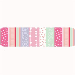 Heart Love Valentine Polka Dot Pink Blue Grey Purple Red Large Bar Mats by Mariart
