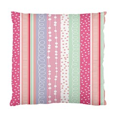 Heart Love Valentine Polka Dot Pink Blue Grey Purple Red Standard Cushion Case (two Sides) by Mariart