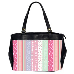 Heart Love Valentine Polka Dot Pink Blue Grey Purple Red Office Handbags (2 Sides)  by Mariart