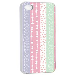 Heart Love Valentine Polka Dot Pink Blue Grey Purple Red Apple Iphone 4/4s Seamless Case (white) by Mariart