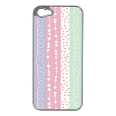 Heart Love Valentine Polka Dot Pink Blue Grey Purple Red Apple Iphone 5 Case (silver) by Mariart