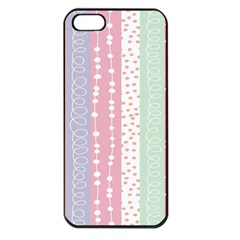 Heart Love Valentine Polka Dot Pink Blue Grey Purple Red Apple Iphone 5 Seamless Case (black) by Mariart