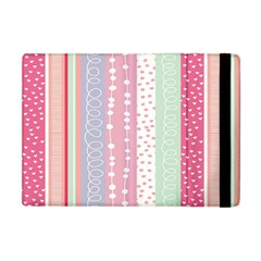 Heart Love Valentine Polka Dot Pink Blue Grey Purple Red Apple Ipad Mini Flip Case by Mariart